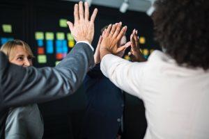 Leader motivates employees